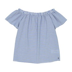 Блузка в полоску, открытые плечи, короткие рукава Numph