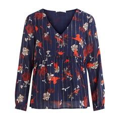 Блузка с принтом, V-образным вырезом с цветочным принтом, Viamollon Vila