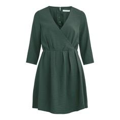 Платье-миди расклешенное с рукавами 3/4 Vila