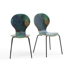 Комплект из 2 стульев с растительным рисунком, RONDA LA Redoute Interieurs