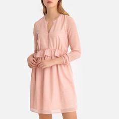 Платье-миди расклешенное с воланами LA Redoute Collections