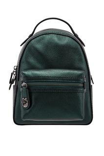 Зеленый кожаный рюкзак Campus Coach