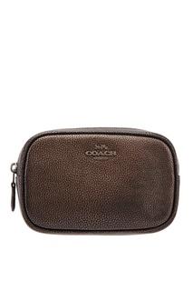 Черная сумка на пояс Coach