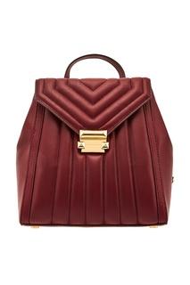 Бордовый рюкзак Whitney Michael Kors