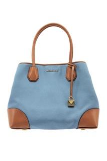 Комбинированная кожаная сумка Mercer Gallery Michael Kors