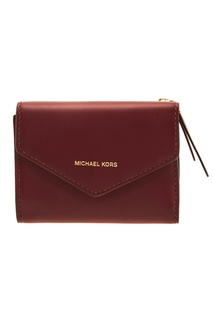 Бордовый кожаный кошелек Blakely Michael Kors