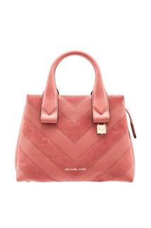 Розовая кожаная сумка Rollins Michael Kors
