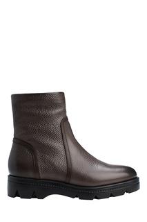 Ботинки из коричневой кожи Santoni