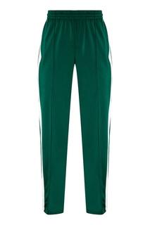 Бело-зеленые спортивные брюки Adidas
