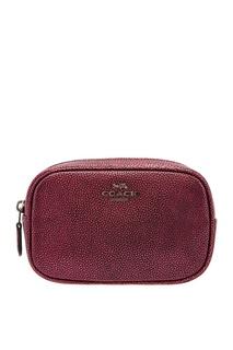 Красная сумка на пояс Coach