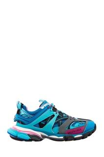 Розово-голубые кроссовки Track Balenciaga