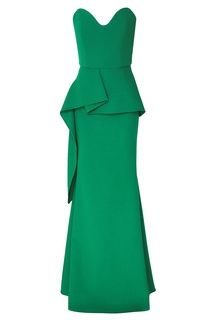 Зеленое вечернее платье Bond Roland Mouret