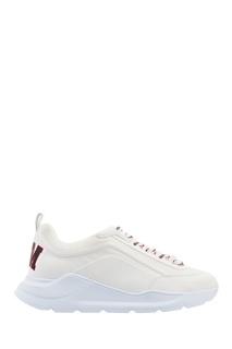 Белые кроссовки с цветной шнуровкой Msgm