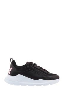 Черные кроссовки с контрастной подошвой Msgm