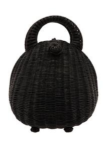 Плетеная черная сумка Millie Cult Gaia