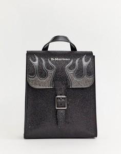 Черный миниатюрный рюкзак с блестками Dr Martens - Черный