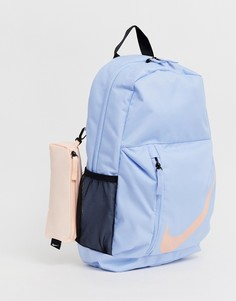 Синий рюкзак с большим логотипом Nike - Синий