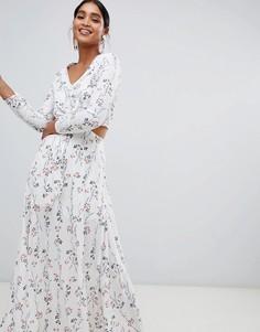 Платье макси с цветочным принтом Liquorish - Белый