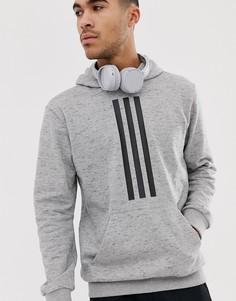 Серый махровый худи Adidas Training ID - Серый
