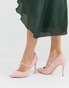 Розовые лакированные туфли-лодочки Faith Charlie mary jane - Розовый