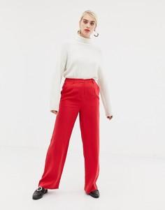 Широкие брюки Selected - Красный