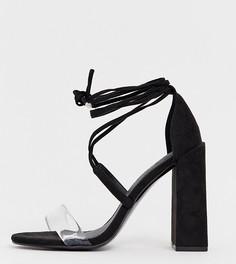 Босоножки на блочном каблуке для широкой стопы ASOS DESIGN - Черный