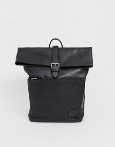 Черный рюкзак с клапаном River Island - Черный