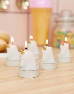 Чайные свечи в виде единорогов Sunnylife - Белый