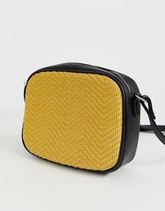 Сумка через плечо из ротанга Pieces - Желтый
