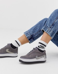 Кроссовки Nike Grey Air Force 1 Jester - Серый