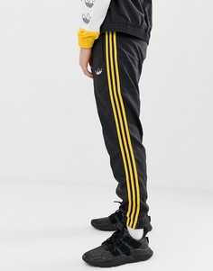 Черные тканые джоггеры с 3 полосами adidas Originals DV3142 - Черный