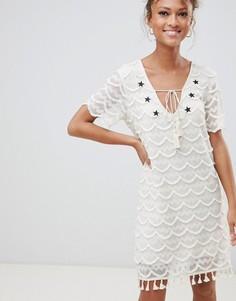 Кружевное платье Glamorous - Кремовый