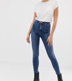 Синие выбеленные джинсы скинни с завышенной талией ASOS DESIGN Tall Ridley - Синий