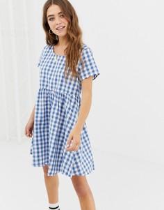 Платье в клеточку Glamorous - Синий