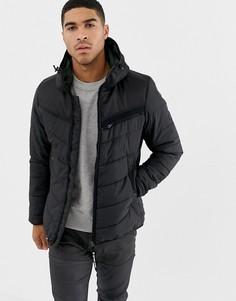 Черная стеганая куртка с капюшоном G-Star Attac - Черный