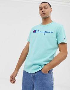 Синяя футболка с логотипом Champion - Синий
