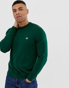 Зеленый джемпер с круглым вырезом Fred Perry - Зеленый