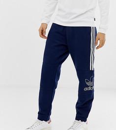 Темно-синие джоггеры с логотипом adidas Originals - Темно-синий