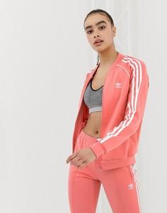 Розовая спортивная куртка adidas Originals - Розовый