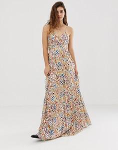 Платье макси с пестрым цветочным принтом BA&SH Rosy - Мульти Ba&;Sh