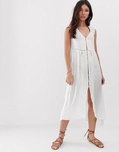 Пляжное платье макси с отделкой кроше Anmol - Белый