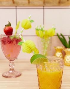 Набор из 12 соломинок с отделкой в виде лимонов Sunnylife - Желтый