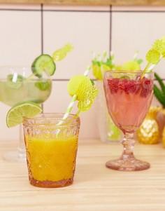 Набор из 12 размешивателей для напитков Sunnylife - Желтый