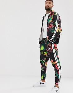 Черные джоггеры с цветочным принтом Nike - Черный