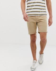 Бежевые шорты с 5 карманами Jack & Jones - Бежевый