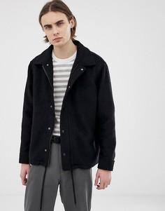 Куртка букле Weekday - Черный