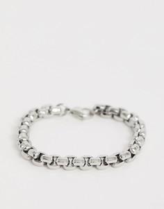 Серебристый браслет-цепочка с крупными звеньями Seven London - Серебряный