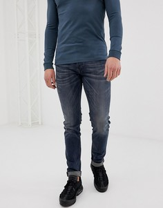 Темно-выбеленные джинсы скинни Diesel Sleenker 069DG - Синий