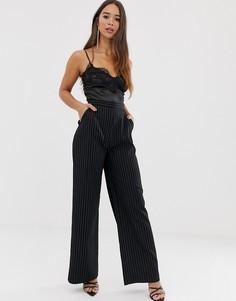 Широкие брюки Love - Черный