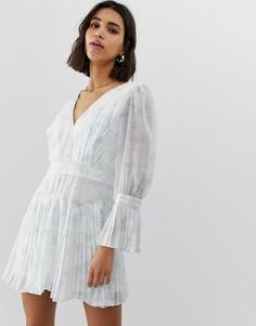 Платье мини с плиссировкой Stevie May - Мульти